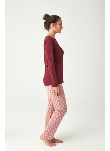 U.S. Polo Assn. Kadın Pijama Takımı Mürdüm